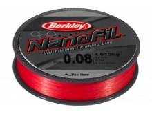Леска Berkley NanoFil  Red 125м 0,10мм 5,732кг