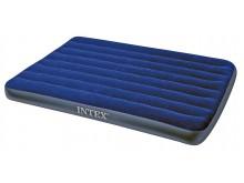 Матрас надувной Intex синий 137*191*30