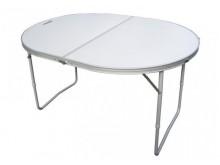 Стол складной Helios овальный (алюм) 120х90х68 см